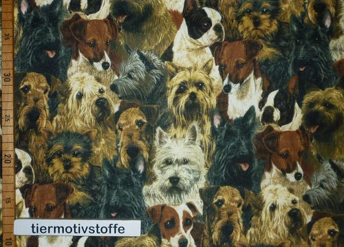 Patchworkstoff Terrier