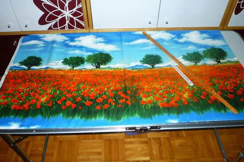 Panel Mohn Landschaft