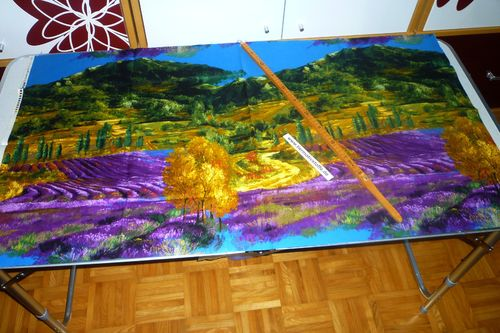 Panel Lavendel Landschaft